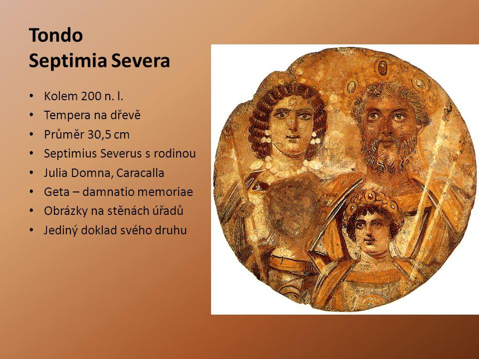 Tondo Septimia Severa Kolem 200 n.l.