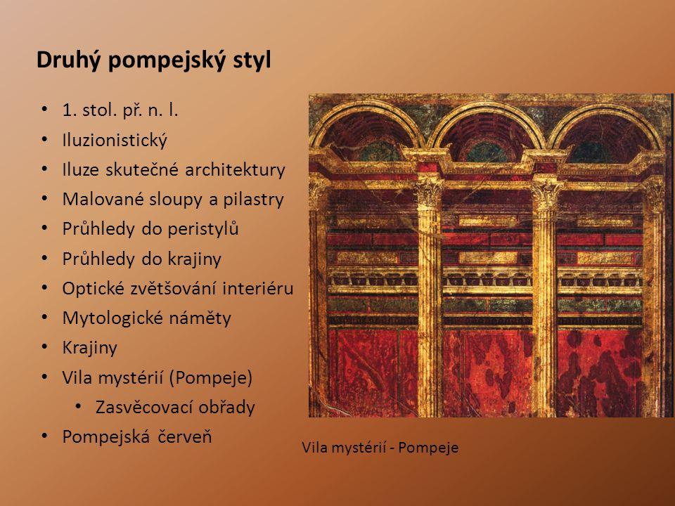 Druhý pompejský styl 1.stol. př. n. l.