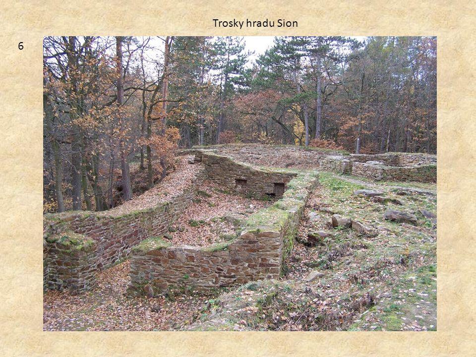 Trosky hradu Sion 6
