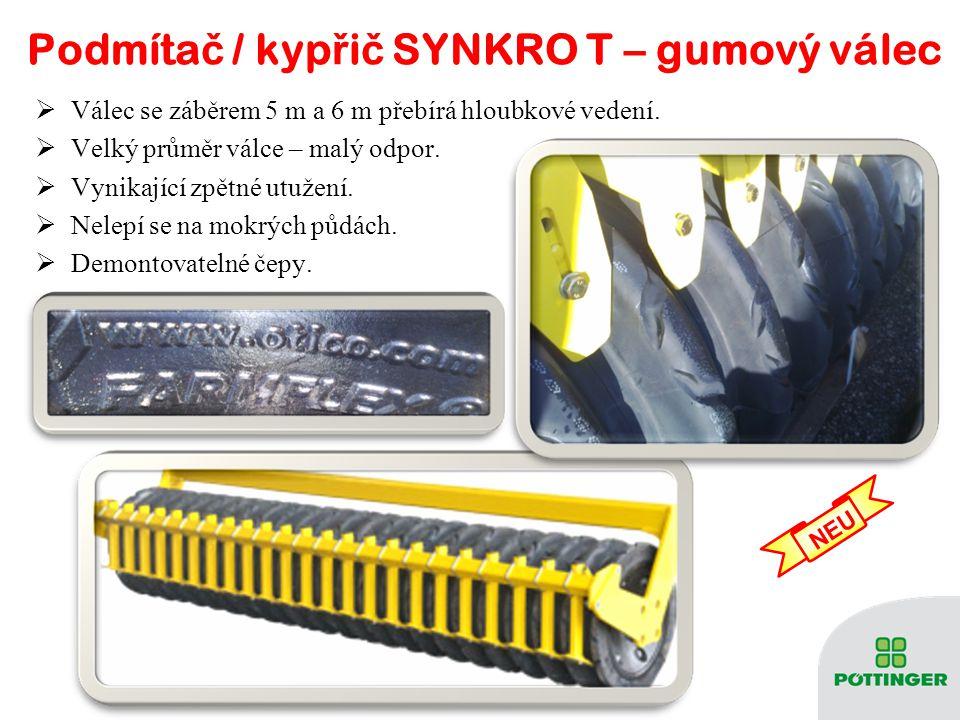 Podmíta č / kyp ř i č SYNKRO T– válec Packer Podmíta č / kyp ř i č SYNKRO T– válec Packer  Válec s průměrem 550 mm přebírá hloubkové vedení.  8 disk