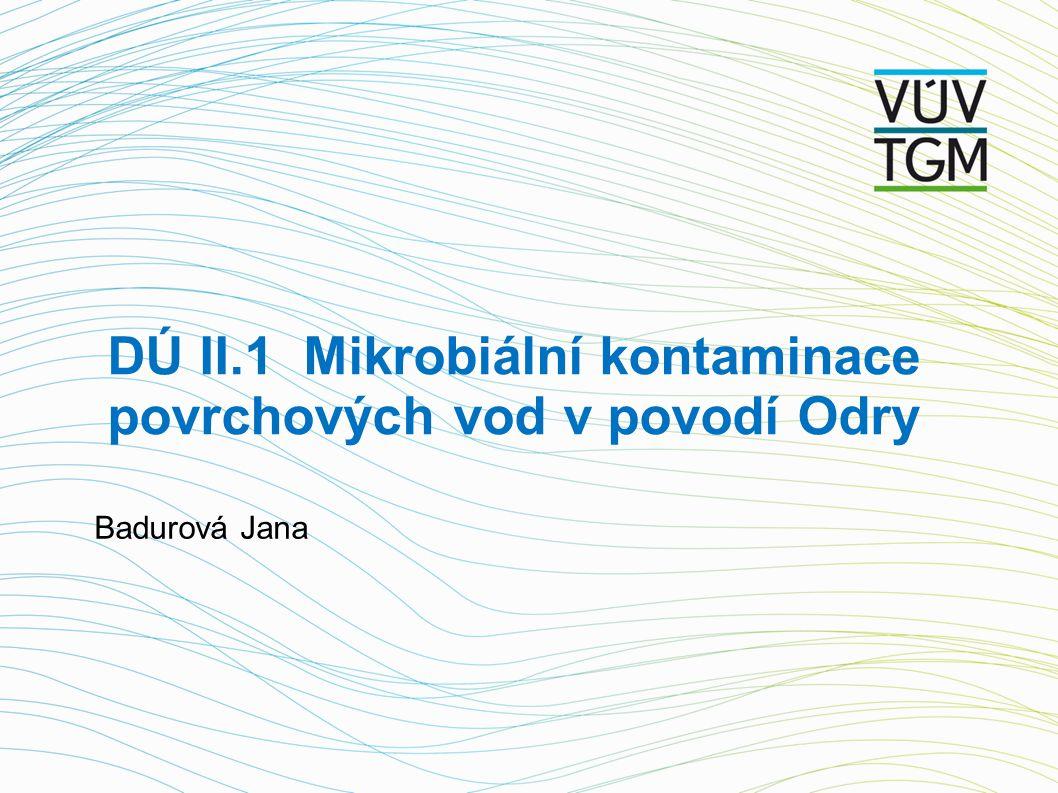 DÚ II.1 Mikrobiální kontaminace povrchových vod v povodí Odry Badurová Jana