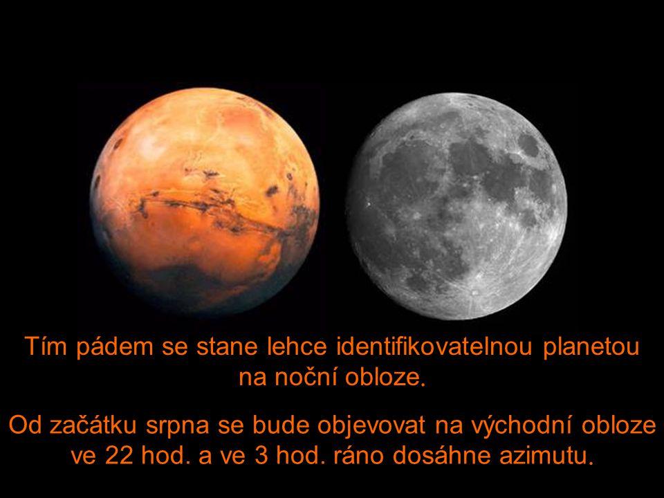 Při pozorování volným okem se bude zdát tak velký, jako Měsíc v úplňku !