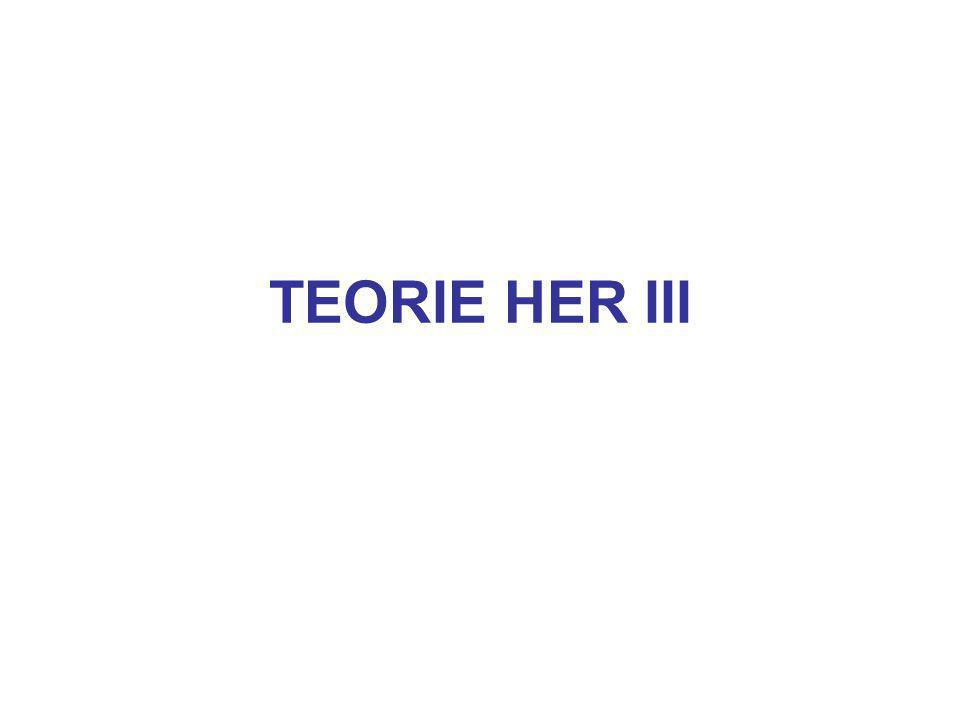 TEORIE HER III