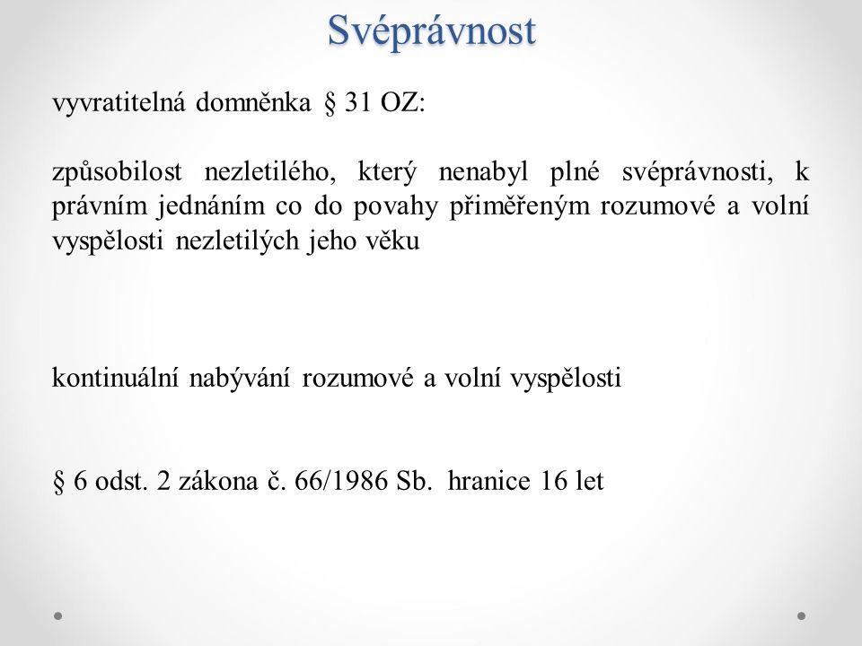 Způsobilost vyslovit info souhlas dle ZZS § 35 (2.