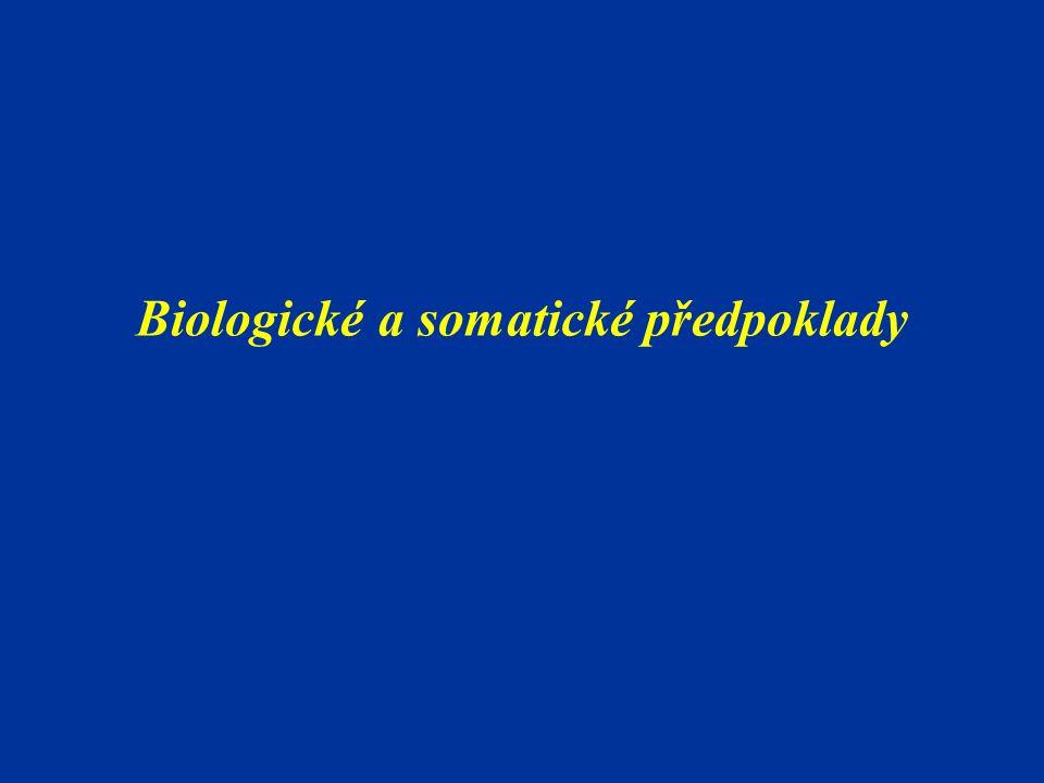 Biologický věk  vyjadřuje stupeň biologického vývoje  charakterizuje celkový stav růstu a vývoje jedince  vyjadřuje míru formování morfologických a funkčních znaků (Riegerová, 1994) Krákora (1948) – homogenní skupiny cvičenců dle věku fyziologického Štěpnička (1985..) – závislost motorických výkonů a somatických znaků Riegerová  výběr talentované mládeže (TSM)  motorická výkonnost je do jisté míry funkcí biologického vyspělosti organismu  stanovení zátěže v tělovýchovném a tréninkovém procesu  hodnocení úrovně motorické výkonnosti v ontogenet.