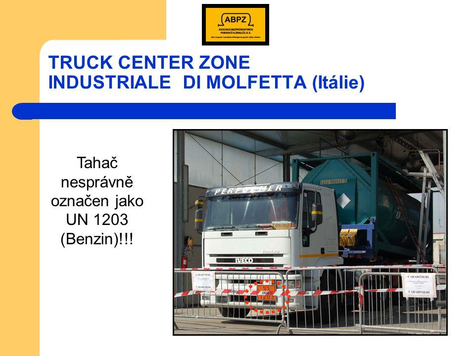 TRUCK CENTER ZONE INDUSTRIALE DI MOLFETTA (Itálie) 3.3.2008 při čištění cisternového kontejneru po předchozí přepravě síry zahynulo postupně 5 pracovníků.