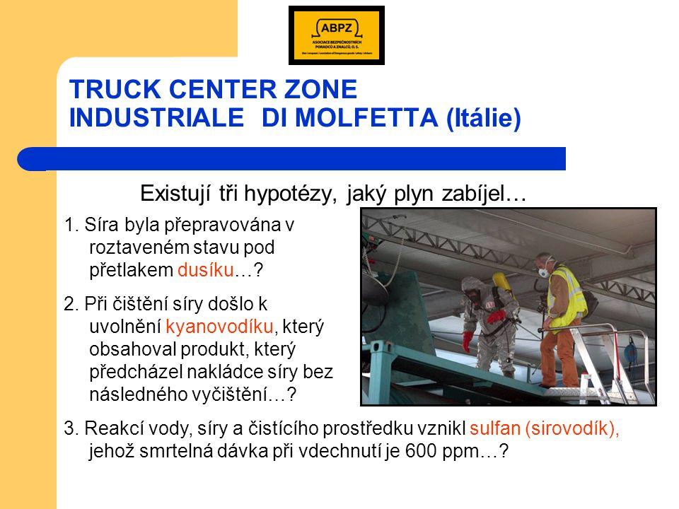 TRUCK CENTER ZONE INDUSTRIALE DI MOLFETTA (Itálie) Tahač nesprávně označen jako UN 1203 (Benzin)!!!