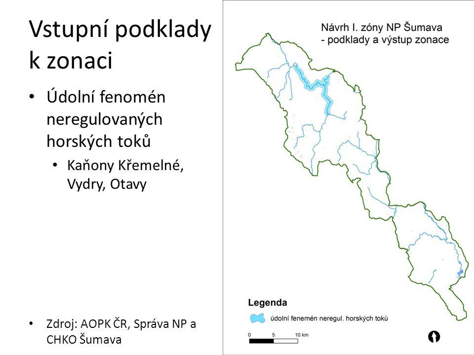 Vstupní podklady k zonaci Jádrové oblasti výskytu tetřeva hlušce na území NP Zdroj: ČSO, Správa NP a CHKO Šumava