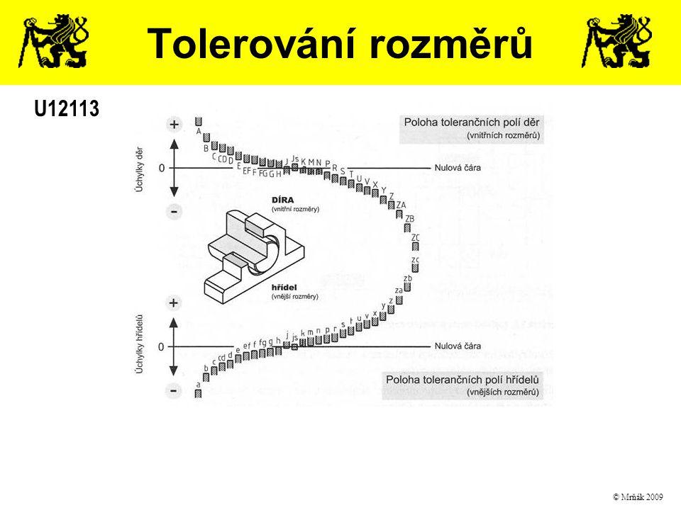 Tolerování rozměrů U12113 © Mrňák 2009