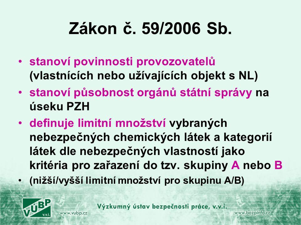Zákon č.59/2006 Sb.