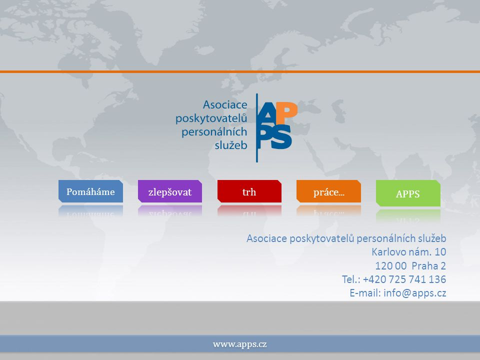www.apps.cz Asociace poskytovatelů personálních služeb Karlovo nám.