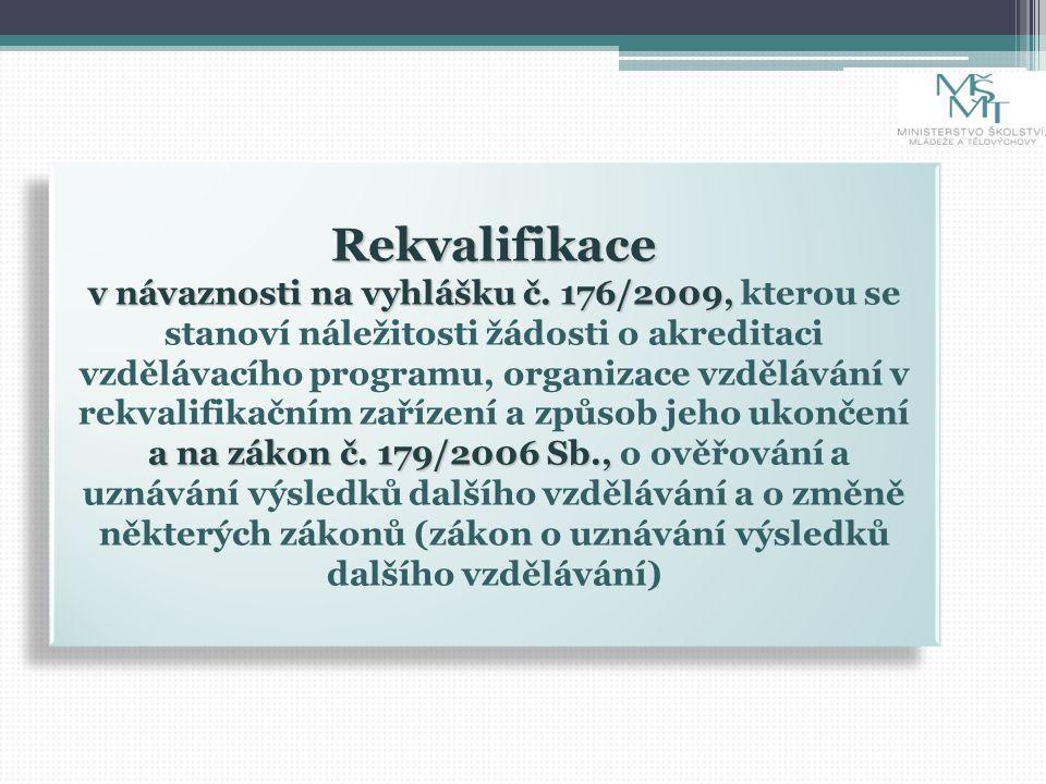 Rekvalifikace v návaznosti na vyhlášku č. 176/2009, a na zákon č.
