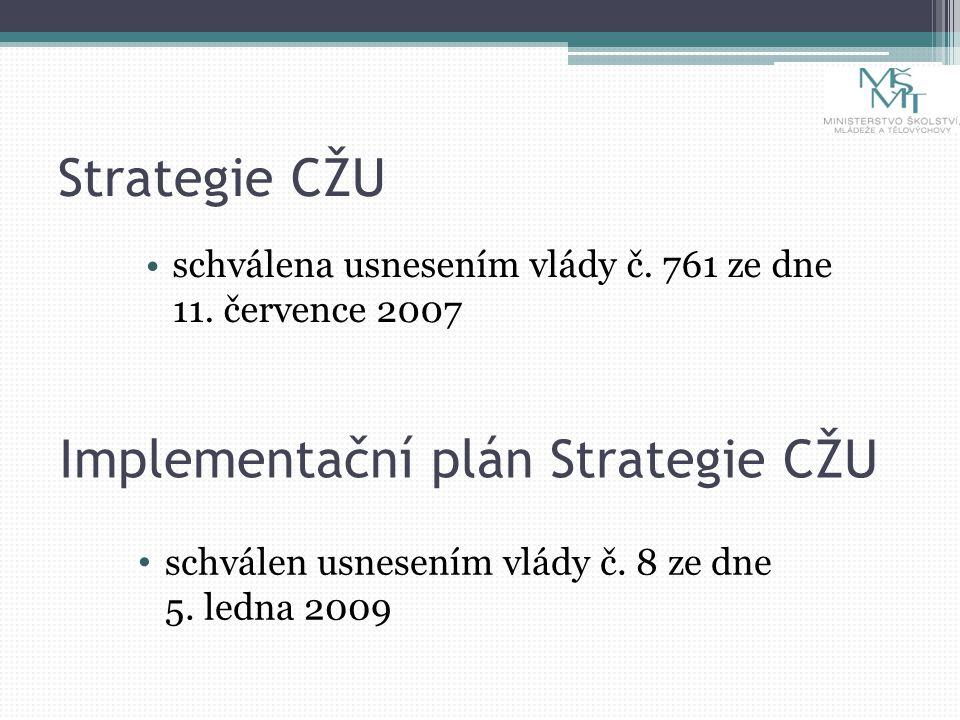 Strategie CŽU schválena usnesením vlády č. 761 ze dne 11.