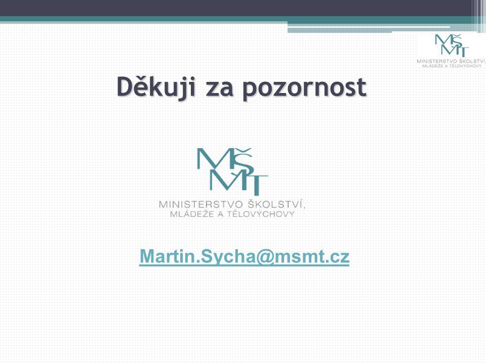 Děkuji za pozornost Martin.Sycha@msmt.cz