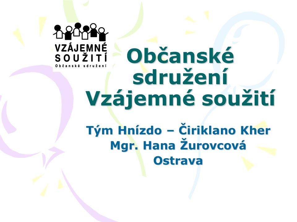 Občanské sdružení Vzájemné soužití Tým Hnízdo – Čiriklano Kher Mgr. Hana Žurovcová Ostrava