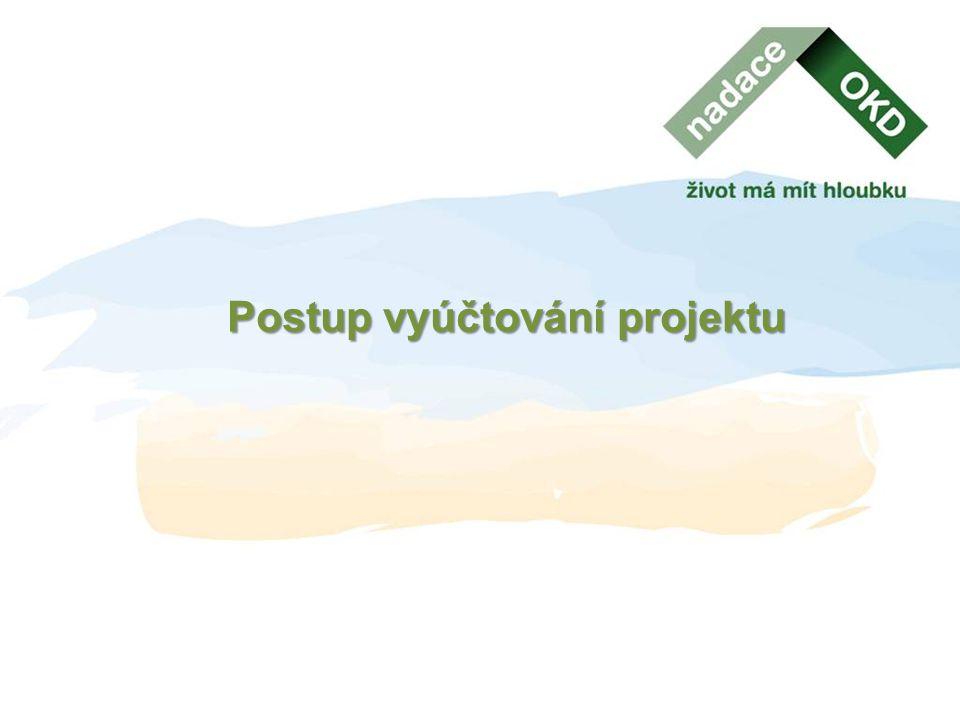 Postup vyúčtování projektu
