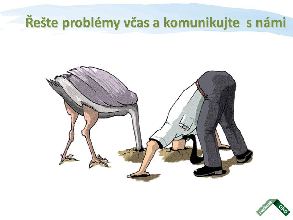 Řešte problémy včas a komunikujte s námi