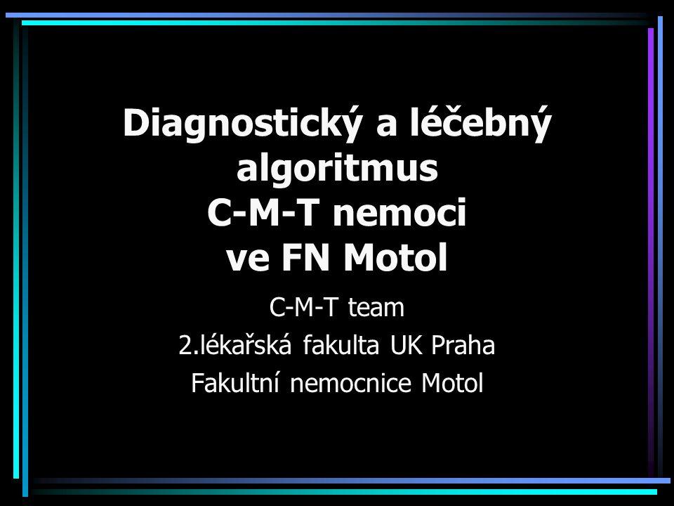 Diagnostický a léčebný algoritmus C-M-T nemoci ve FN Motol C-M-T team 2.lékařská fakulta UK Praha Fakultní nemocnice Motol