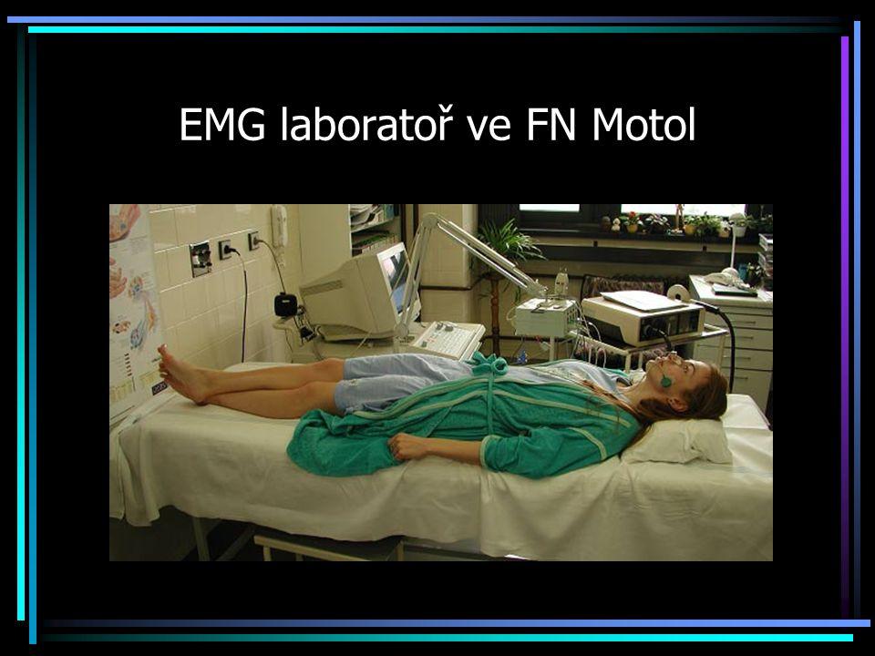 EMG laboratoř ve FN Motol