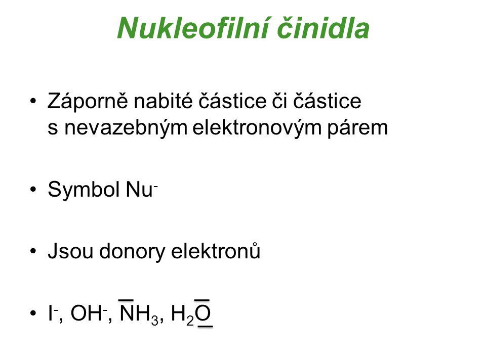 2) Reakce dle přeměn na substrátu a) Substituční reakce Reakce, při kterých dochází k výměně atomů či funkční skupiny mezi reaktanty Celkový počet částic se v průběhu reakce nemění
