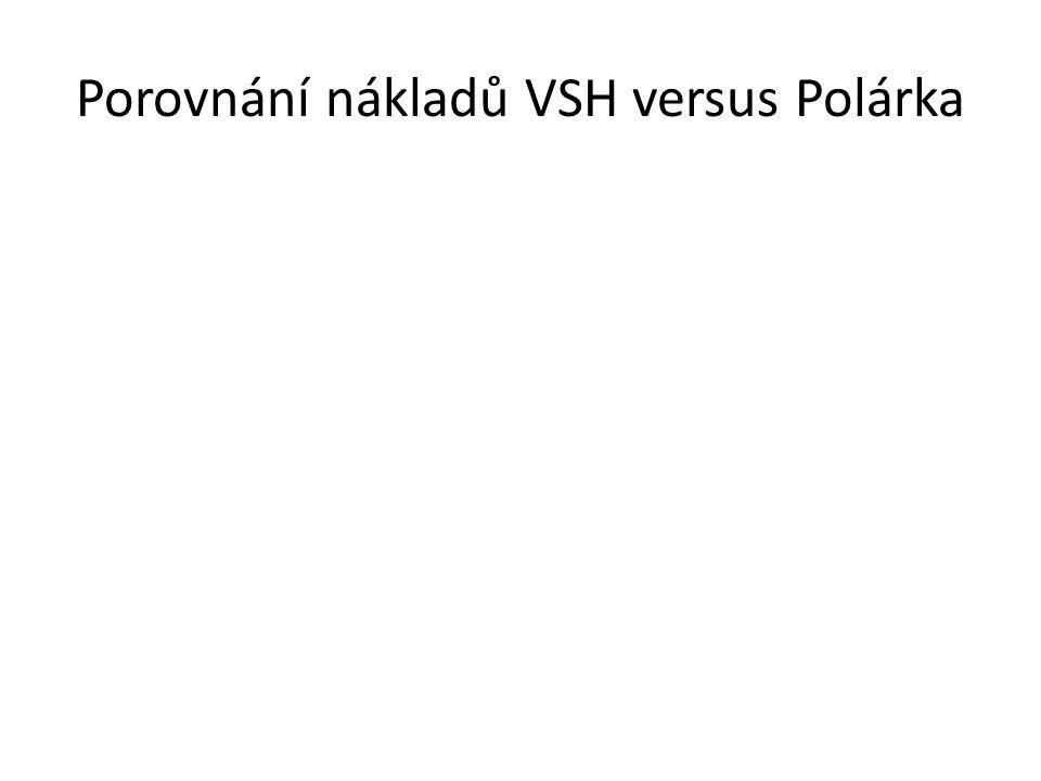 Porovnání nákladů VSH versus Polárka Rekonstrukce VSH