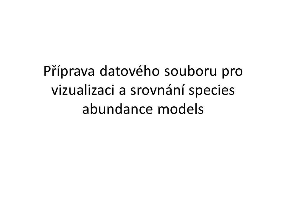 Příprava datového souboru pro vizualizaci a srovnání species abundance models