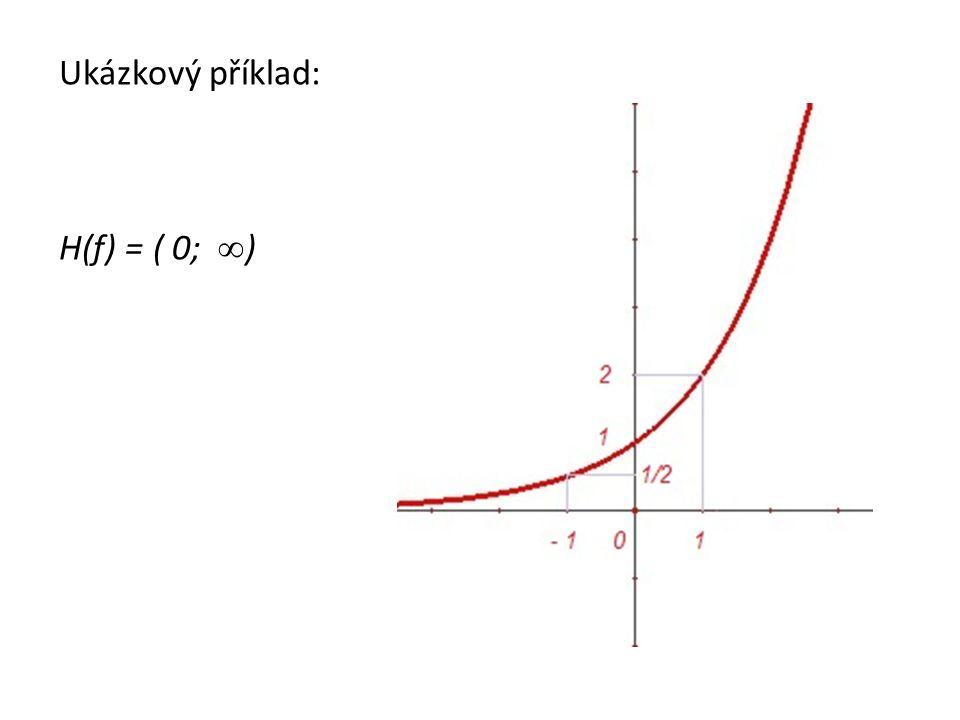 Ukázkový příklad: H(f) = ( 0; ∞ )