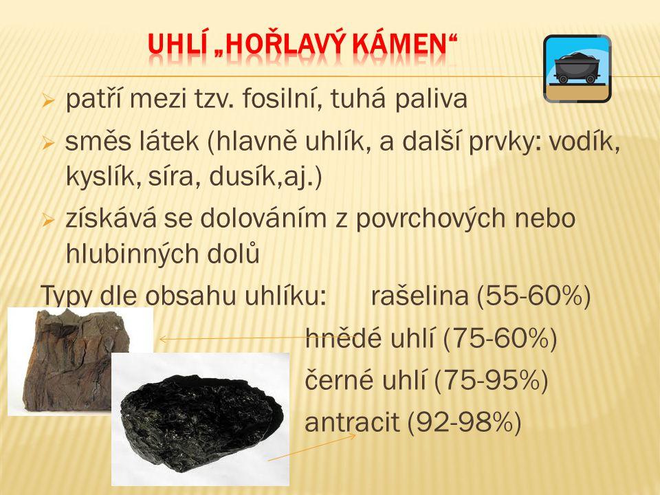 = děj, při kterém se zahřívá černé uhlí na teplotu kolem 900°C (tzv.