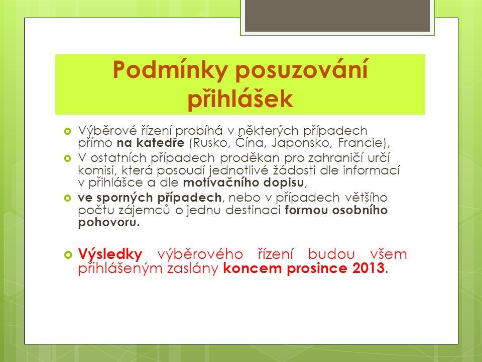 TERMÍN PODÁVÁNÍ PŘIHLÁŠEK: 31. ŘÍJNA 2013 PRO ROK 2014, RESP. AKAD. ROK 2014/15