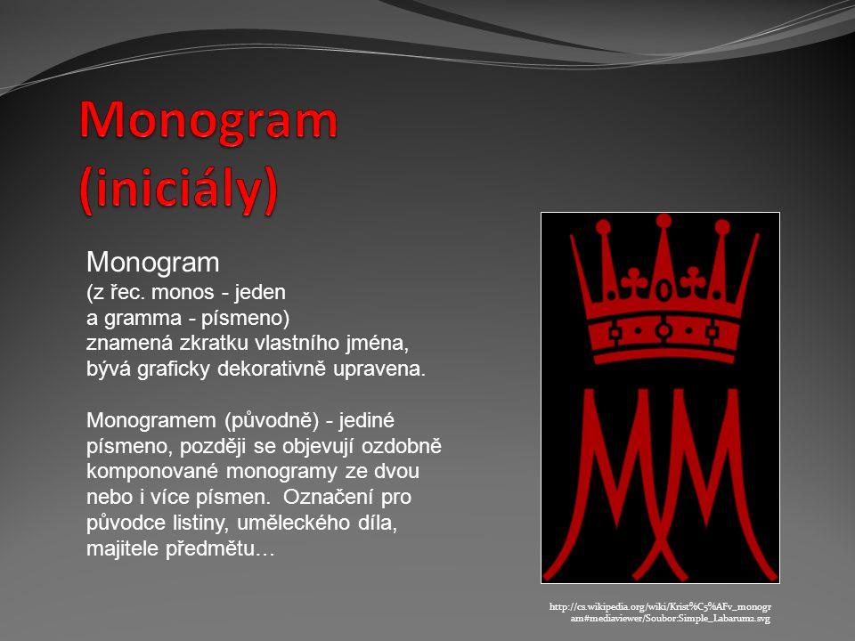 Monogram (z řec.