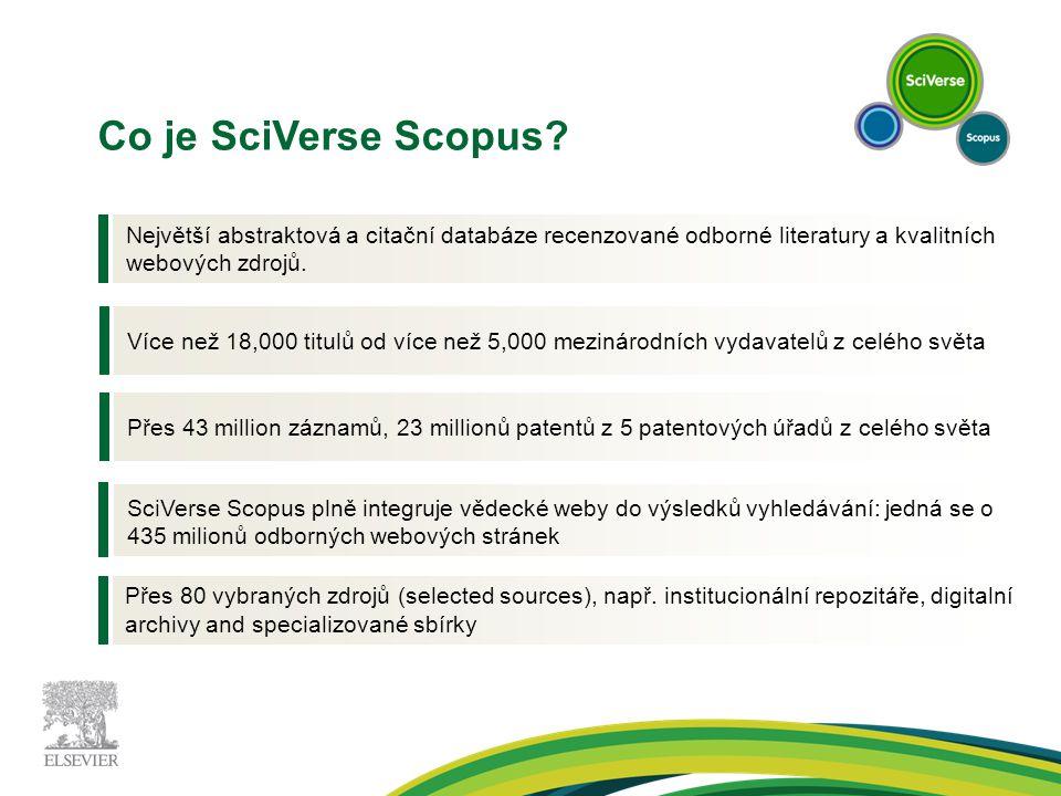 Vývoj SciVerse Scopus