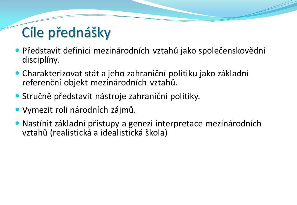 Realistická škola V praktické politice je zastáncem obdobného názoru například H.