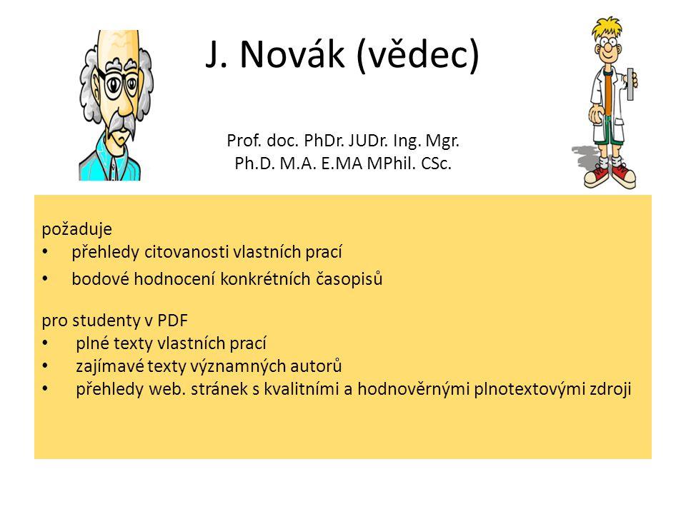 J. Novák (vědec) Prof. doc. PhDr. JUDr. Ing. Mgr.