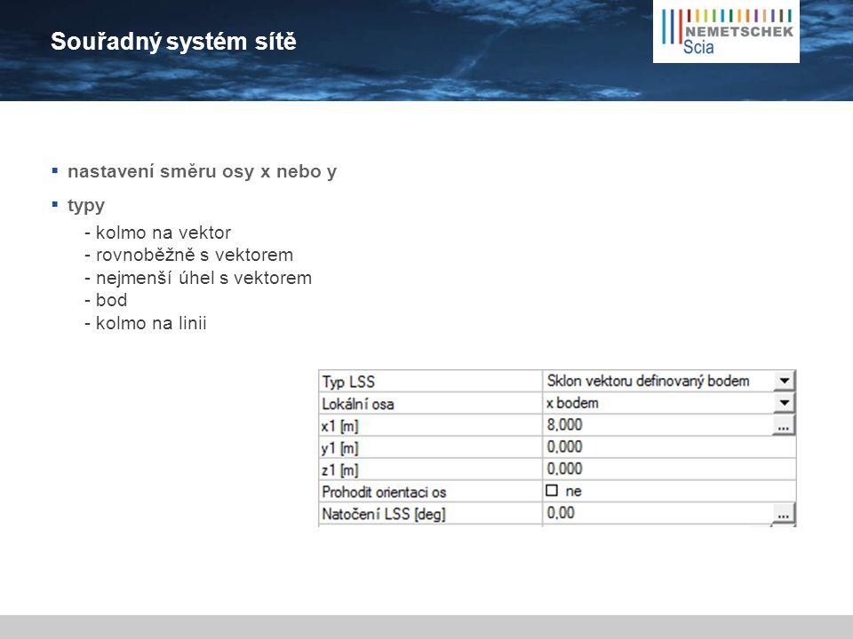 Souřadný systém sítě