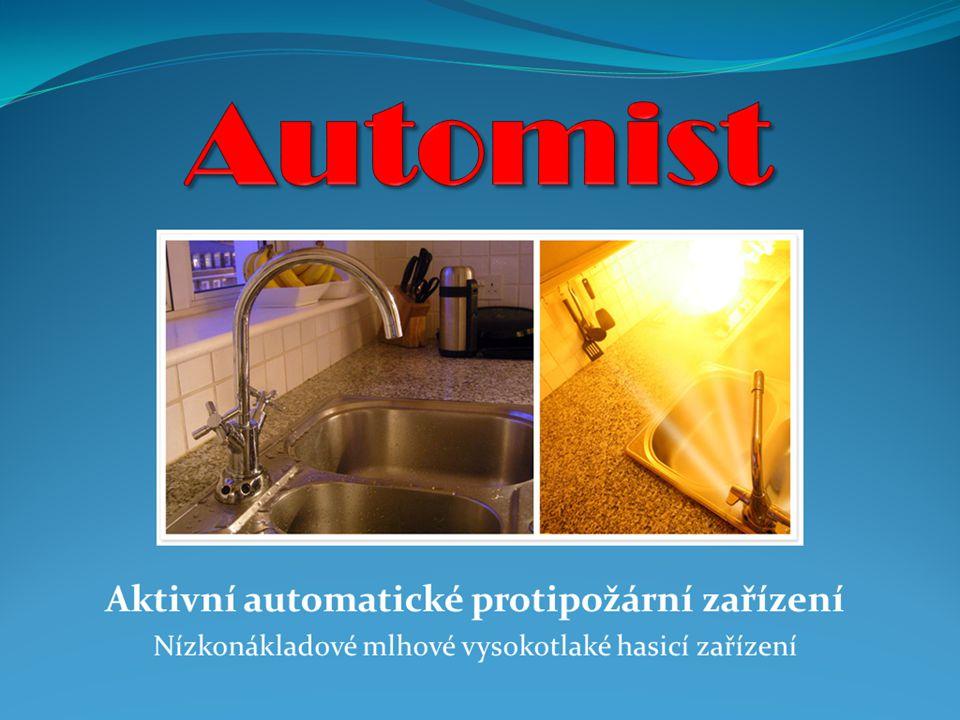 Tlaková jednotka Automist rozmlžuje 5,3 litrů vody za minutu při tlacích 80-120 bar Možné konfigurace dle počtu rozmlžovacích hlavic, trysek a místa instalace: 1.