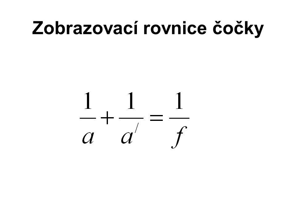 Zobrazovací rovnice čočky