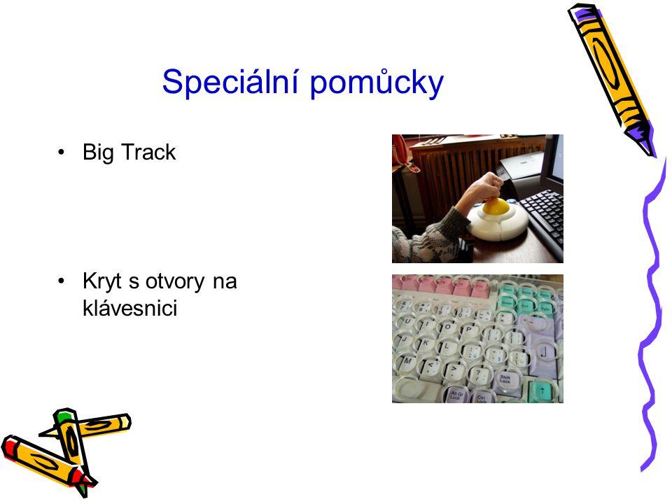 Speciální pomůcky Big Track Kryt s otvory na klávesnici