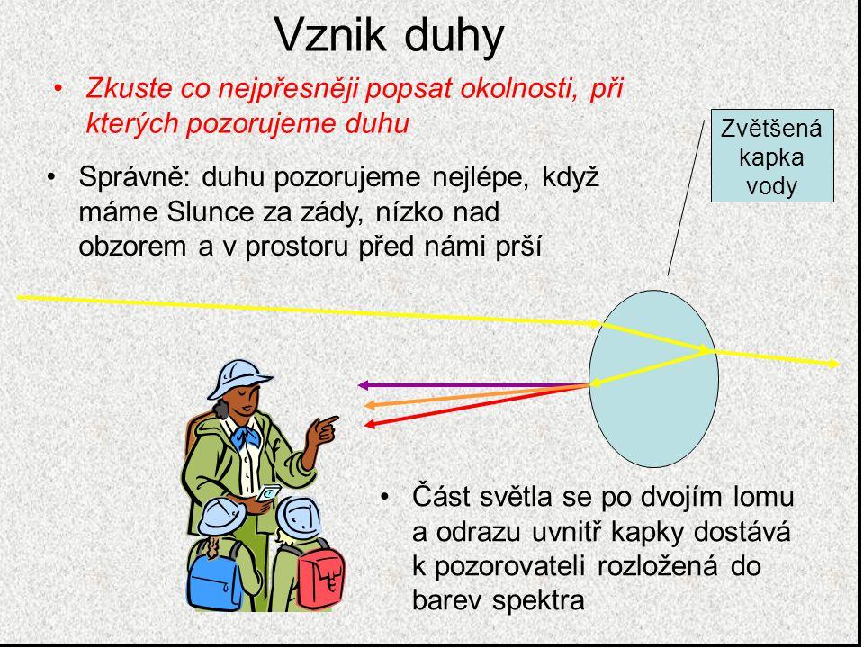 10.Lidský zrak V oku se ostrý obraz promítá pomocí čočky na sítnici – zde jsou buňky, které obraz zpracují pro oční nerv Duhovka mění svoji velikost podle množství přicházejícího světla Čočka mění svůj tvar podle vzdálenosti pozorovaného předmětu – při její špatné funkci pozorujeme nejčastější oční vady