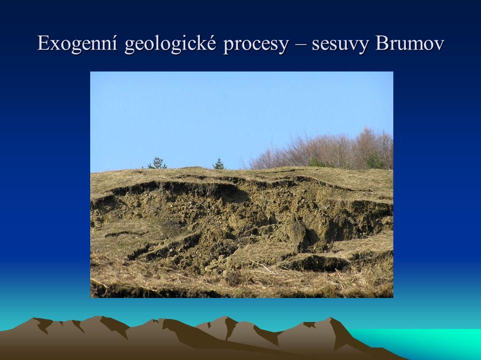 Exogenní geologické procesy – sesuvy Brumov