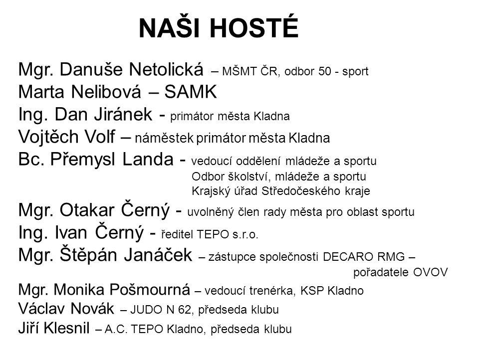 NAŠI HOSTÉ Mgr.Danuše Netolická – MŠMT ČR, odbor 50 - sport Marta Nelibová – SAMK Ing.