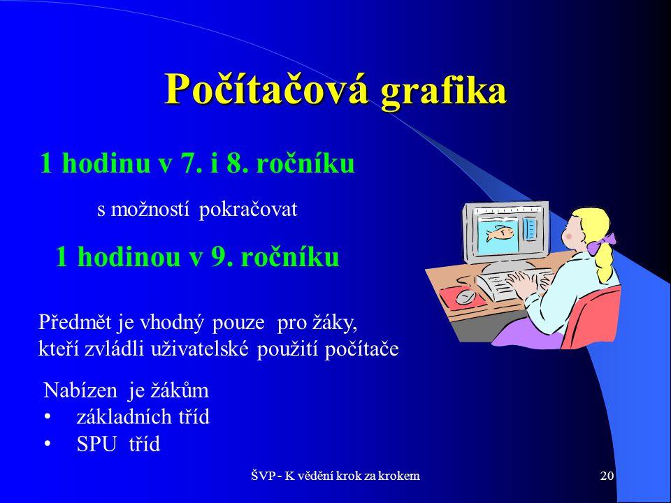 ŠVP - K vědění krok za krokem20 Počítačová grafika 1 hodinu v 7.
