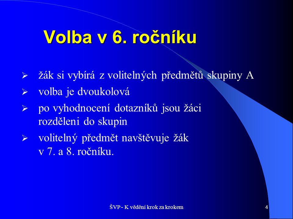 5 Volitelné předměty – skupina A 7.a 8.