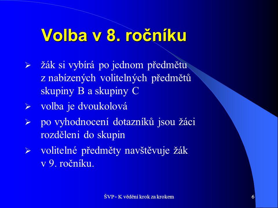7 Volitelné předměty – skupina B 9.