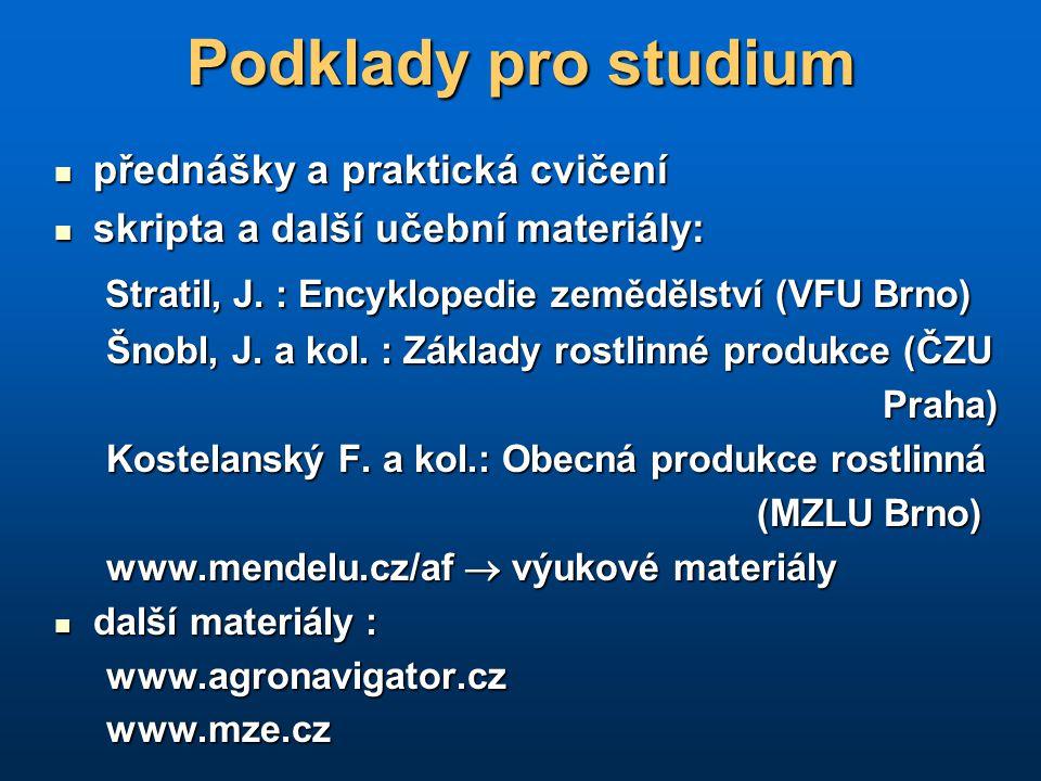 Půdní fond, definice ZPF Zákon č.334/1992 Sb. o ochraně zemědělského půdního fondu Zákon č.