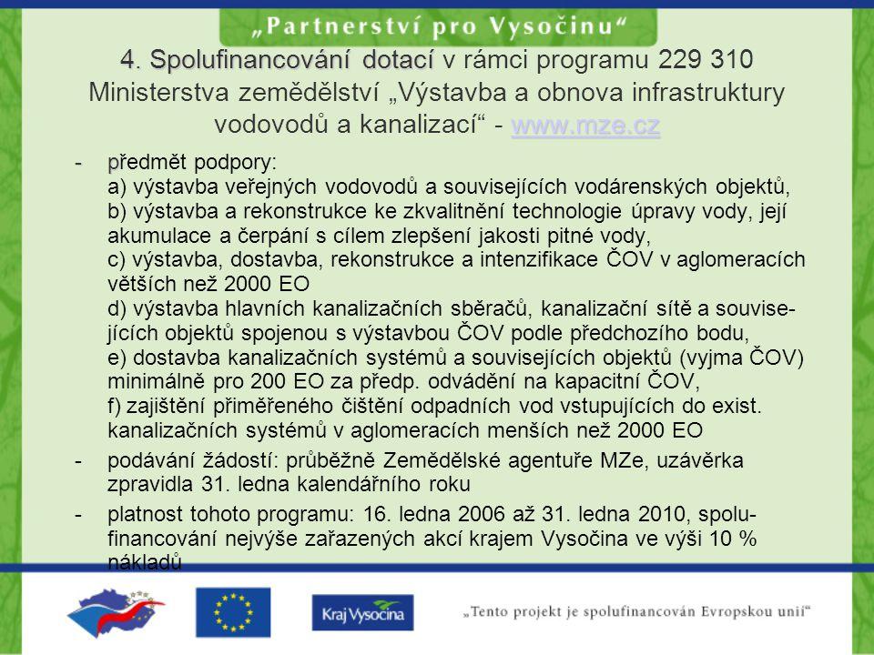 4. Spolufinancování dotací www.mze.cz 4.