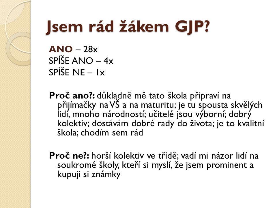 Jsem rád žákem GJP.