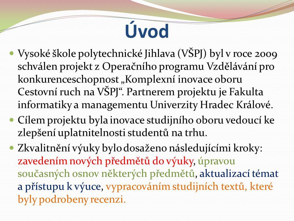"""Úvod Vysoké škole polytechnické Jihlava (VŠPJ) byl v roce 2009 schválen projekt z Operačního programu Vzdělávání pro konkurenceschopnost """"Komplexní in"""