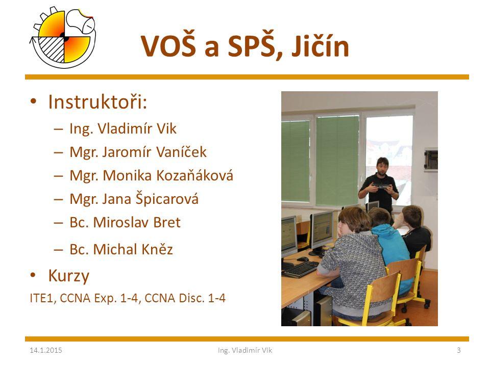 VOŠ a SPŠ, Jičín Instruktoři: – Ing. Vladimír Vik – Mgr.