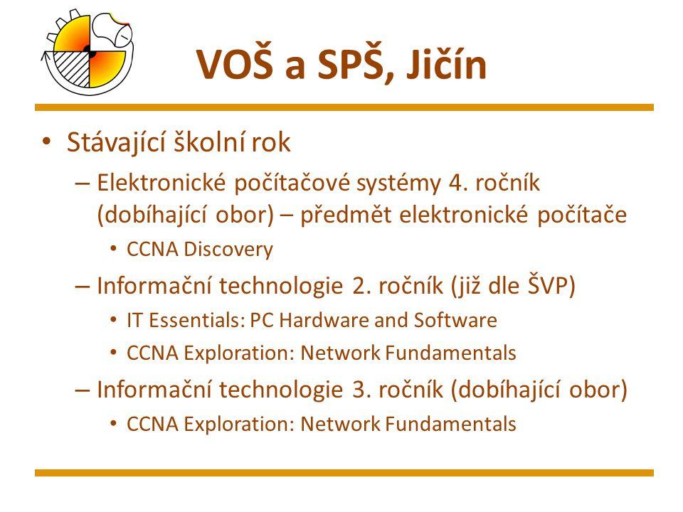 VOŠ a SPŠ, Jičín Stávající školní rok – Elektronické počítačové systémy 4.