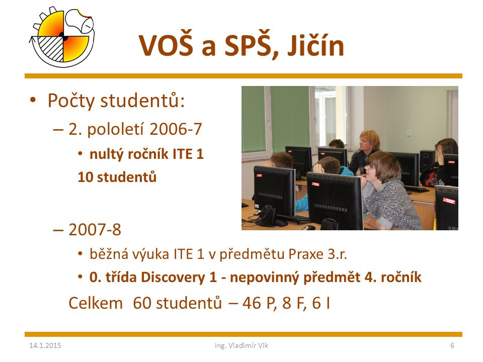 VOŠ a SPŠ, Jičín Počty studentů: – 2.